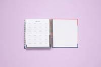 2020 / 2021 Annual Overview. Planner has a sturdy and durable metal coil.