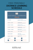 Free Printable | Distance Learning Schedule