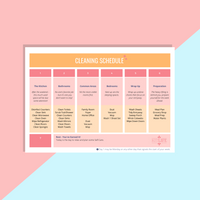 Free Printable | Weekly Cleaning Schedule