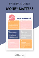 Free Printable | Money Matters and Budget