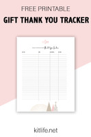 Free Printable Holiday Series | Gift Thank You Tracker