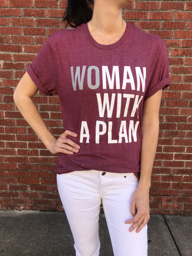 Woman with a Plan Boyfriend Tee