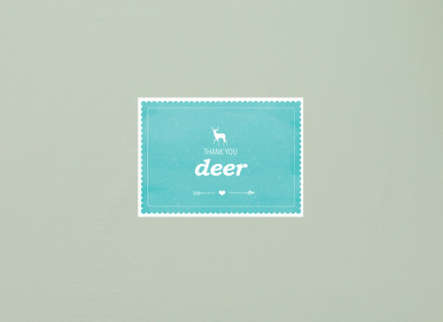 Holiday Happy Mail   Thank you Deer