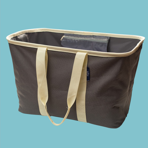 Collapsible Laundry Tote | Gray