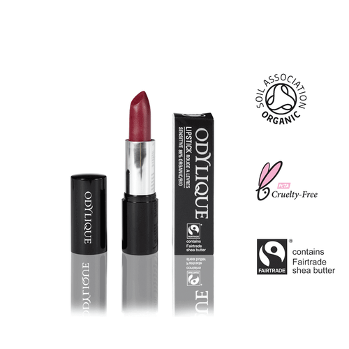 Organic Mineral Lipstick #12 - Raspberry Coulis