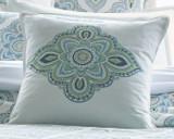 Santa Monica Square Pillow - Center Motif Embroidery