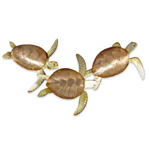 Swimming Turtle Trio Wall Art