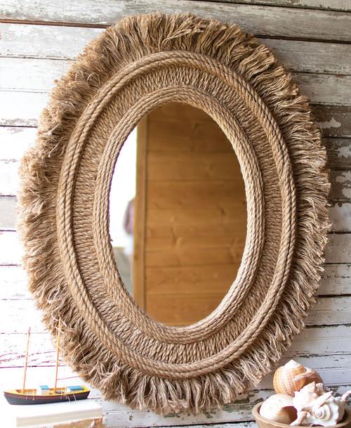 Tahiti Jute Wall Mirror