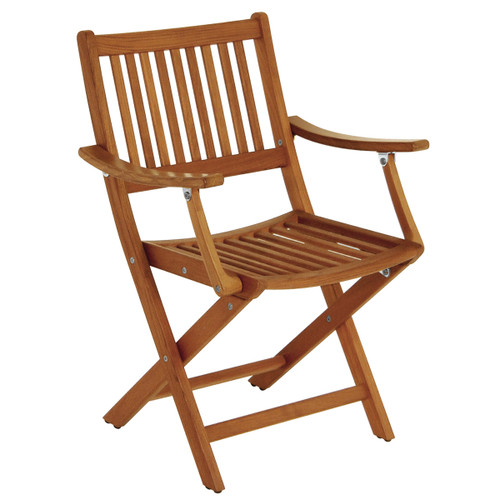 Teak Folding Deck Chair with Arms
