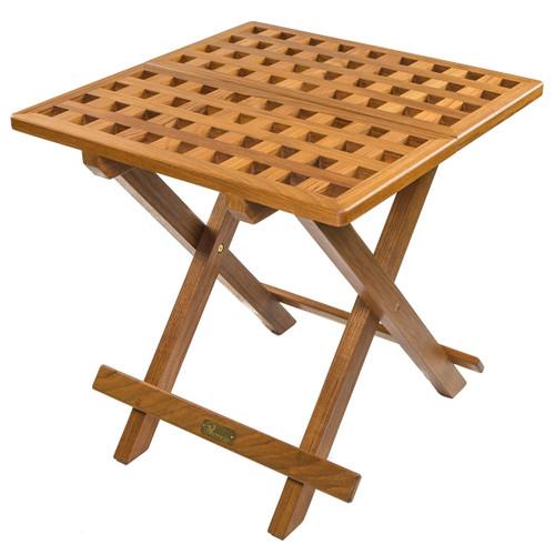 Teak Grate Top Fold-Away Table