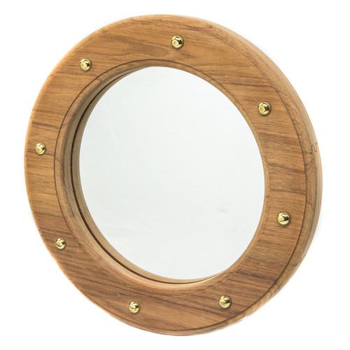Teak Porthole Mirror