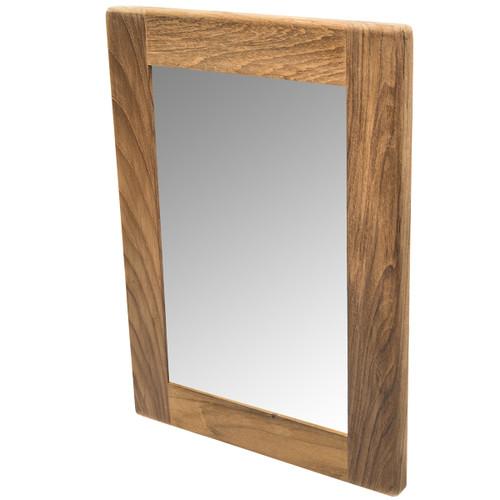 Teak Rectangular Mirror