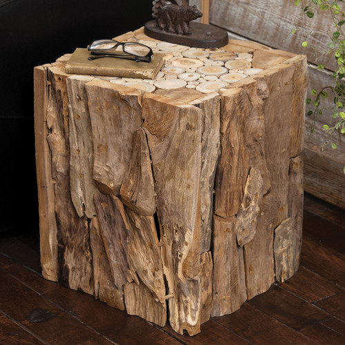 Teak Root Forest Table / Cube