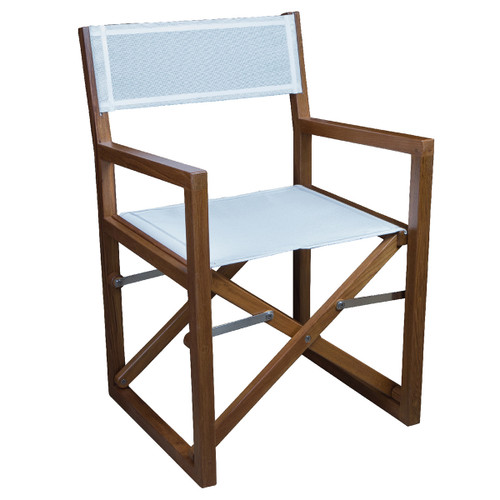 Teak Square Director's Chair