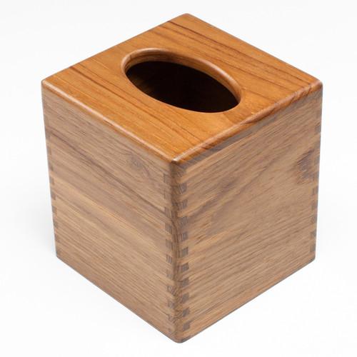 Teak Tissue Box Holder