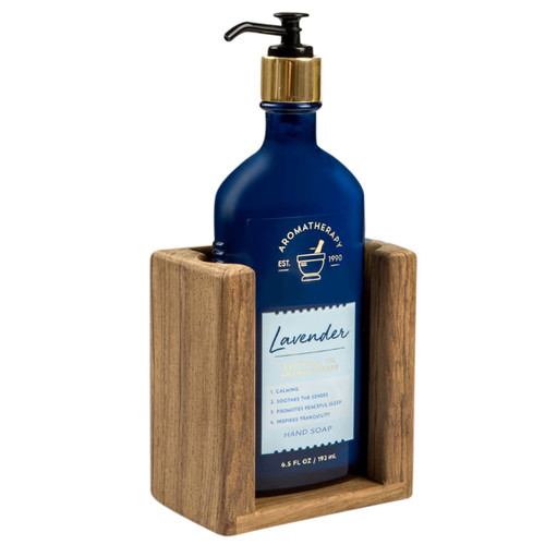 Teak Wall-Mount Liquid Soap Holder