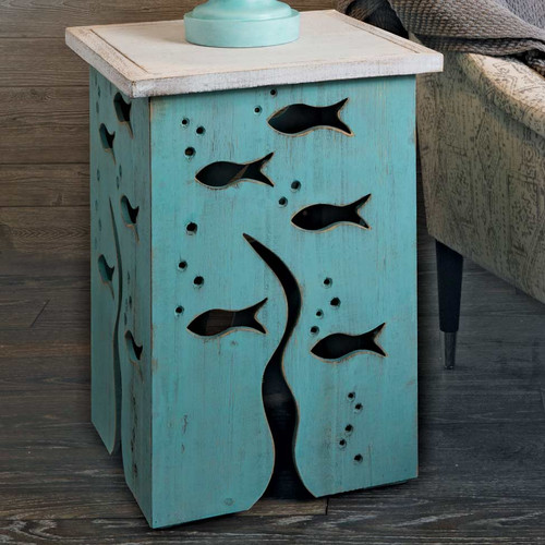 Tidepool Fish Accent Table - BACKORDERED UNTIL 12/17/2021