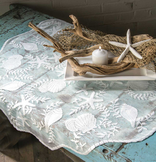 Tidepool Lace Table Topper