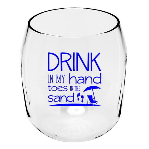 Toes in the Sand Wine Tumblers - Set of 4