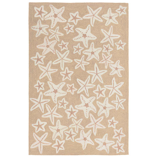 Starfish Sea Natural Indoor/Outdoor Rug Collection