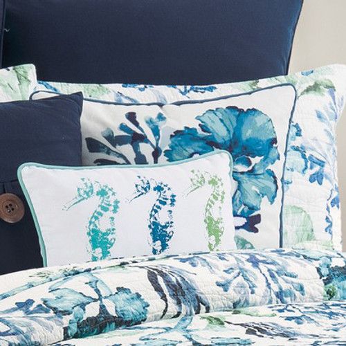 Tropical Blue Beach Pillow - OUT OF STOCK