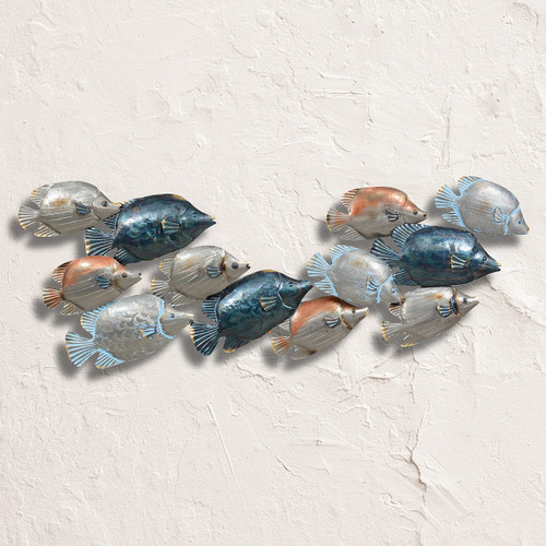 Tropical Fish Collage Metal Wall Art