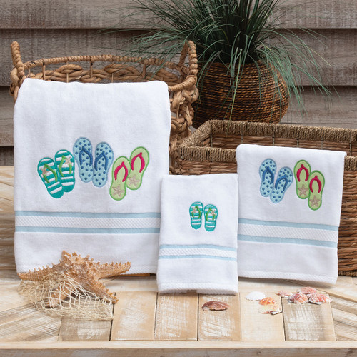 Beach Day Flip Flop Towels
