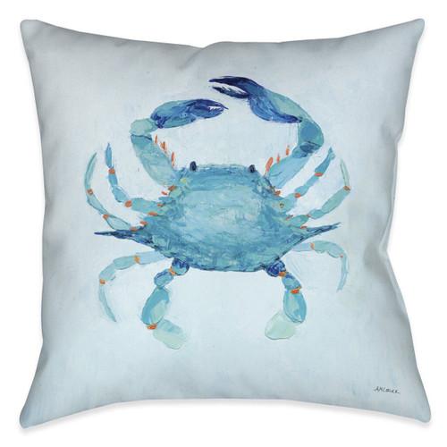 Watercolor Crab 18 x 18 Indoor Pillow