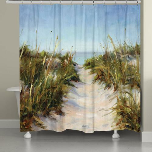 Waving Seagrass Shower Curtain
