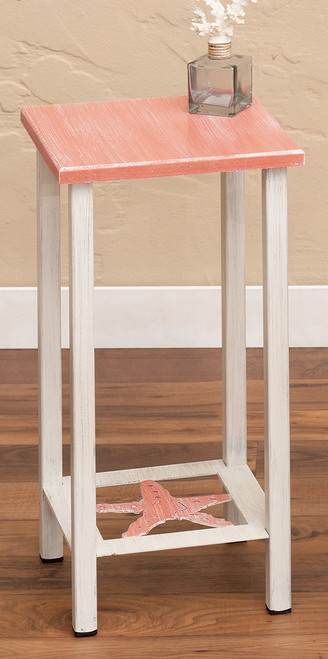 Weathered Coral Starfish Accent Table