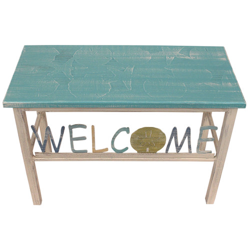 """24"""" Multi Shell Top Welcome Bench w/Sand Dollar Accent"""