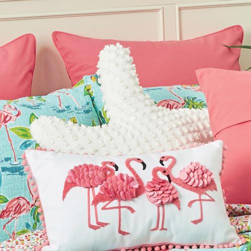 White 3-D Starfish Pillow