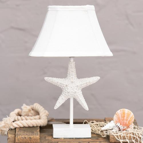 White 3D Starfish Accent Lamp
