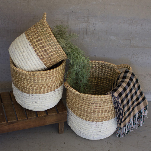 White Bay Seagrass Baskets - Set of 3