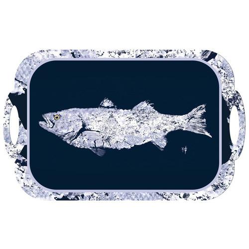 White Fish on Navy Tray