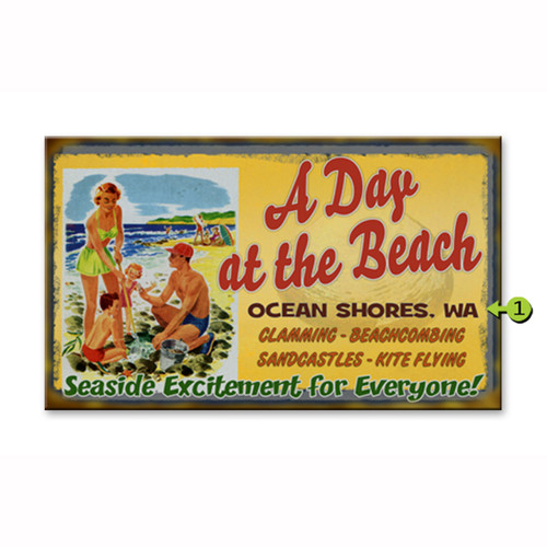 A Day at the Beach Location Personalized Signs