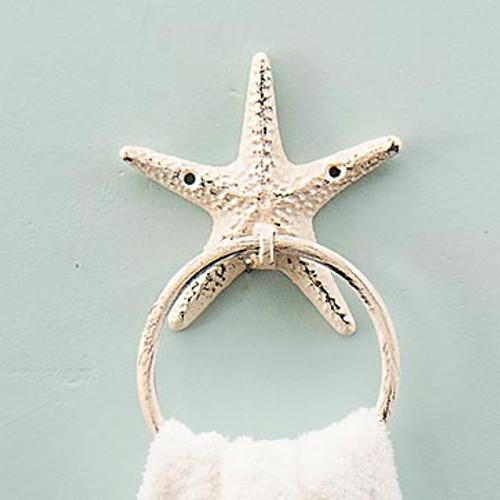 Whitewater Starfish Cast Iron Hand Towel Holder