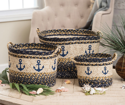 Anchor Braided Utility Baskets