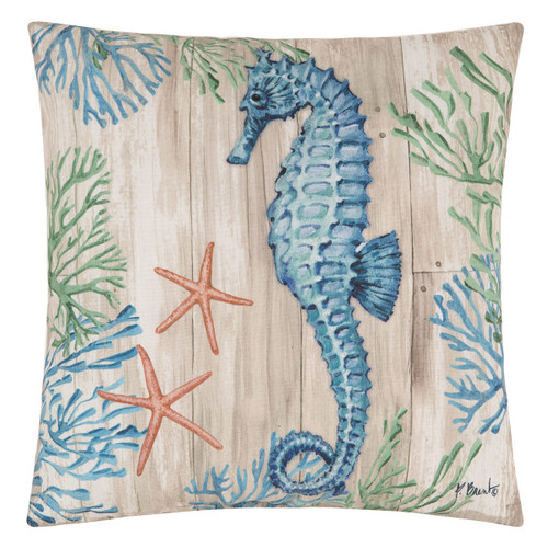 Wooden Plank Sealife II Pillow - OUT OF STOCK