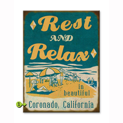Rest and Relax Personalized Signs