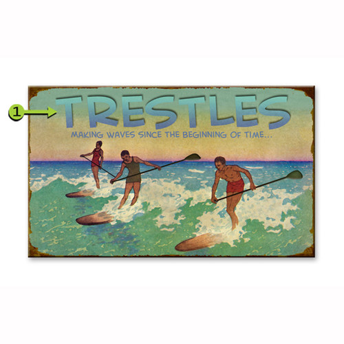 Riding the Waves Personalized Signs