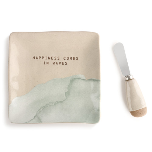 Happiness Plate with Spreader Set