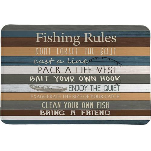 Fishing Advice Memory Foam Rug