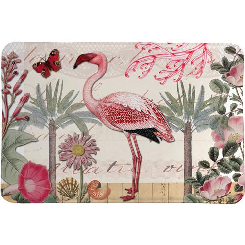 Pink Flamingo Memory Foam Rug