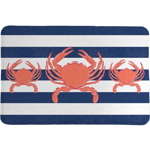 Nautical Crab Memory Foam Rug