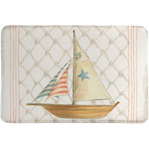 Nautical Sailboat Memory Foam Rug