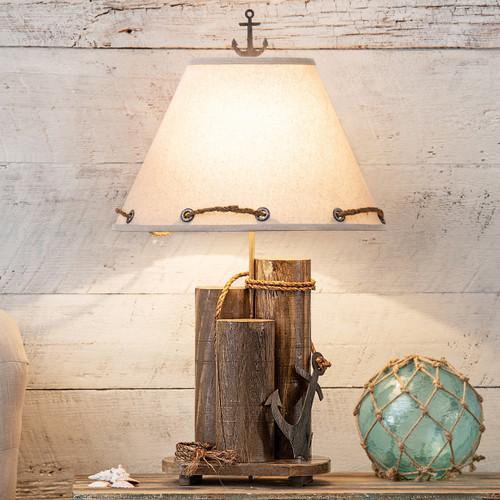 Anchor Dock Pilings Table Lamp