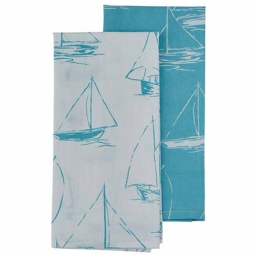 Aqua Regatta Dishtowels - Set of 2