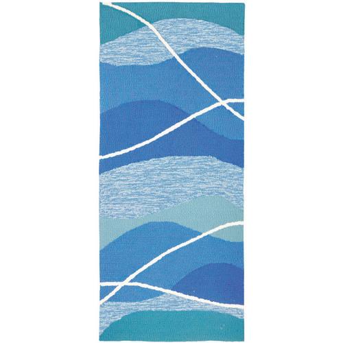 Aqua Waves Indoor/Outdoor Rug - 2 x 5
