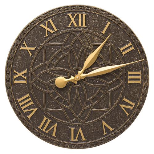 Artisan Flower Indoor/Outdoor Wall Clock - French Bronze